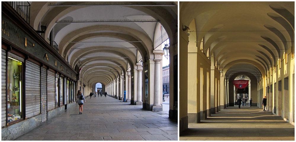 Turim Arcos e Arcadas de Itália